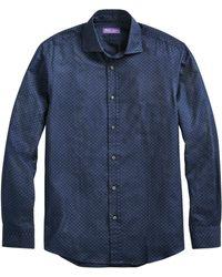 Ralph Lauren Purple Label Aston Geo-print Sport Shirt - Blue