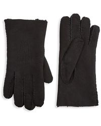 Saks Fifth Avenue Collection Shearling Gloves - Black