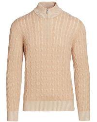 Brunello Cucinelli Vanise Cable Knit Half-zip Sweater - Multicolor