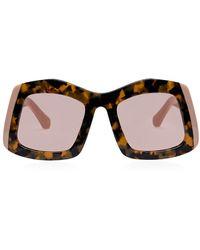 Karen Walker Wyndham 53mm Square Sunglasses - Multicolor