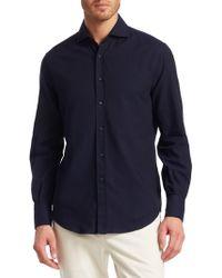 Brunello Cucinelli - Marled Button-down Shirt - Lyst