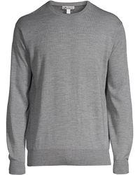 Peter Millar - Men's Crown Soft Merino Wool & Silk Jumper - British Grey - Size Small - Lyst