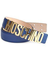 Moschino - Logo Buckle Belt - Lyst
