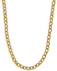Elizabeth Locke Gold Orvieto Hammered 19k Yellow Gold Medium Oval-link Chain Toggle Necklace - Metallic