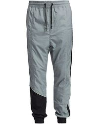 Madison Supply Colorblock Piped Trackpants - Gray