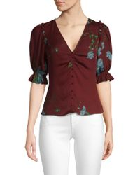 Joie - Anevy Puffed Sleeve Blouse - Lyst