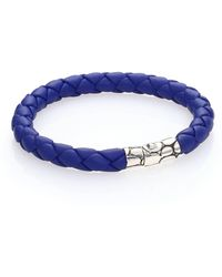 John Hardy - Bamboo Woven Leather And Sterling Silver Bracelet - Lyst