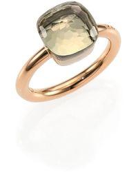 Pomellato - Nudo 18k Rose Gold & Prasiolite Square Ring - Lyst