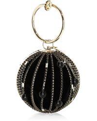 Rosantica - Women's Sasha Crystal Embellished Round Bar Clutch - Black - Lyst