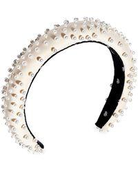 Lele Sadoughi - Pearl-embellished Padded Headband - Lyst