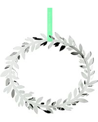 Georg Jensen - Palladium Plated Brass Magnolia Leaf Wall Wreath Ornament - Lyst