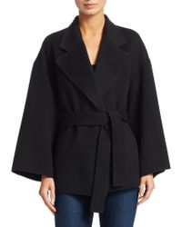 Theory - Wool & Cashmere Belted Robe Jacket - Lyst