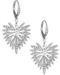 Adriana Orsini - Small Swarovski Crystal Burst Earrings - Lyst