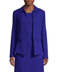 St. John - Irina Bouclé Knit Jacket - Lyst