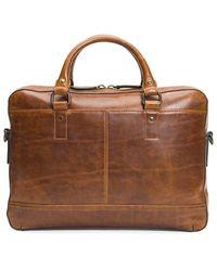 Frye Logan Zip Briefcase - Brown