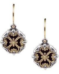 Konstantino - Sterling Silver & 18k Yellow Gold Onyx Earrings - Lyst