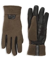 UGG Leather & Faux Fur Gloves - Multicolor