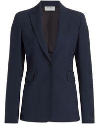 Akris Punto Side Press-button Jacket - Blue