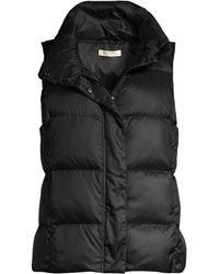 Eileen Fisher Recycled Polyester Quilted Puff Vest - Black