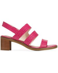Cole Haan Adella Croc-embossed Leather Slingback Sandals - Pink