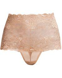 Wacoal - High-waist Lace Thong - Lyst