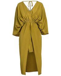 Unttld - Vesper Silk Kimono-sleeve Dress - Lyst