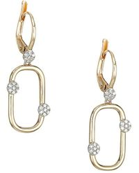 Phillips House - Infinity 14k Yellow Gold & Diamond Box-link Huggie Earrings - Lyst