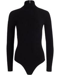 Michael Kors Stretch-viscose Turtleneck Bodysuit - Black