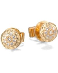 Phillips House - 14K Yellow Gold & Diamond Delicate Stud Earrings - Lyst