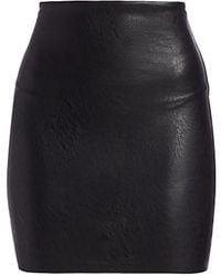 Commando Perfect Faux Leather Mini Skirt - Black