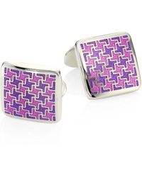 David Donahue - Sterling Silver Houndstooth Cuff Link - Lyst