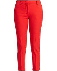 Piazza Sempione Violette Cuffed Cropped Pants - Red