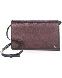 Rag & Bone - Textured Leather Crossbody Wallet - Lyst