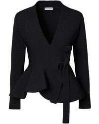 Scanlan Theodore Crepe Knit Wrap Jacket - Black