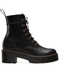 Dr. Martens Leona 7 Hook Boot Shoes - Black