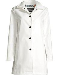 Jane Post High-shine Rain Slicker - White