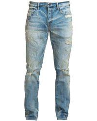 PRPS Sabre Slim Fit Mid Rise Distressed Jeans - Blue