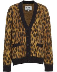 RE/DONE Oversized Cheetah Cardigan - Multicolor