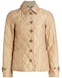 Burberry Fernleigh Quilted Coat - Natural