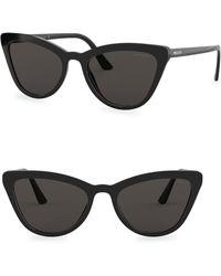 f88c0deb920eb Lyst - Prada Cat Eye Sunglasses - Black grey Gradient in White