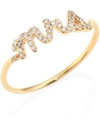 Sydney Evan - Mrs. Diamond & 14k Yellow Gold Ring - Lyst