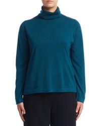 Marina Rinaldi - Turtleneck Wool Sweater - Lyst