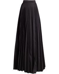 Teri Jon Accordion Pleated Taffeta Skirt - Black