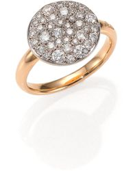 Pomellato - Sabbia Diamond & 18k Rose Gold Ring - Lyst
