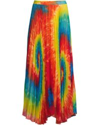 f5b1179b98 Alice + Olivia Posey Ruffled Silk Maxi Skirt in Blue - Lyst