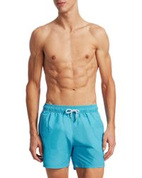 Saks Fifth Avenue | Collection Solid Delave Swim Trunks | Lyst