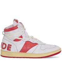 R H U D E © Rhecess Hi Leather Sneakers - Multicolor
