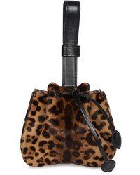 Alaïa Rose Marie Leopard-print Calf Hair Bucket Bag - Multicolor