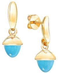 Tamara Comolli - Mikado Flamenco 18k Yellow Gold & Turquoise Acorn Earrings - Lyst