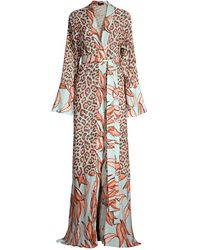 PATBO Mixed Media Sheer Robe - Multicolor